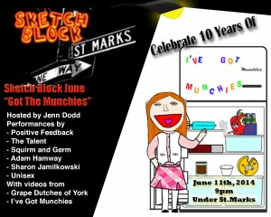 "A Promo Picture for Sketch Block NYC presents ""I've Got Munchies"" 10th Anniversary LIVE Show"
